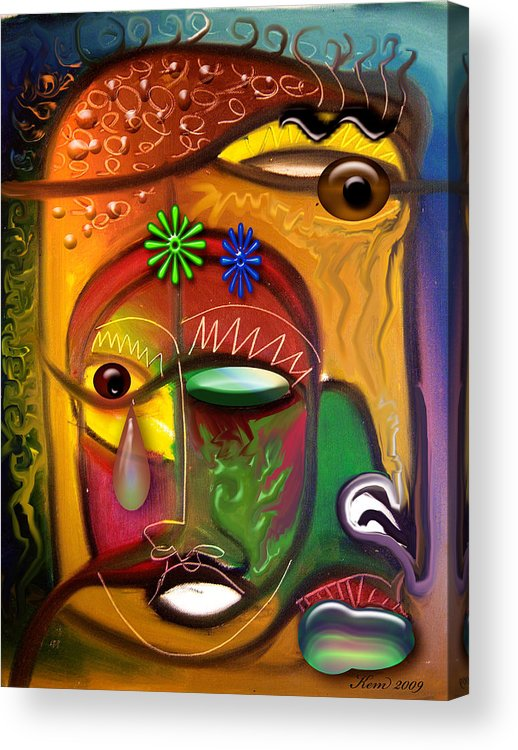 Artizfacts Acrylic Print featuring the digital art Indifference by Kevin McDowell