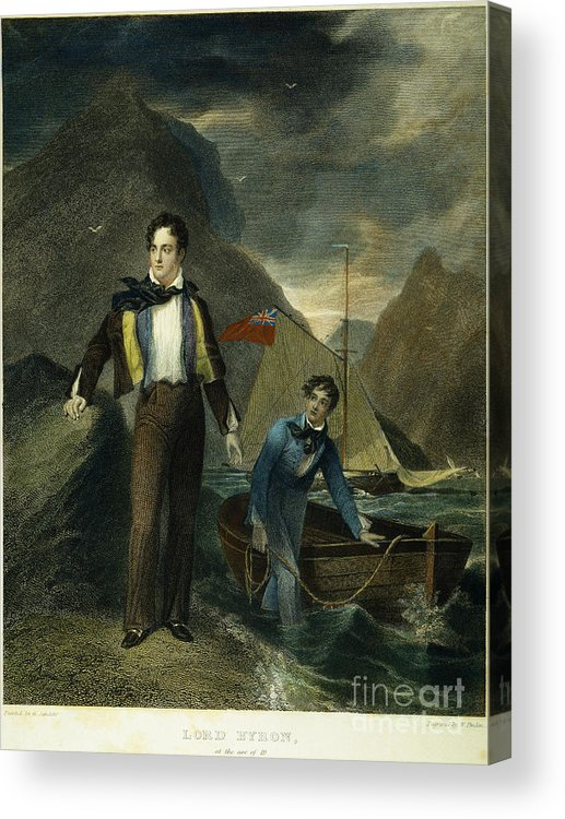 1807 Acrylic Print featuring the photograph Lord Byron by Granger