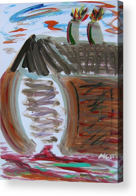 Self Taught Acrylic Print featuring the painting Mill Entry by Mary Carol Williams