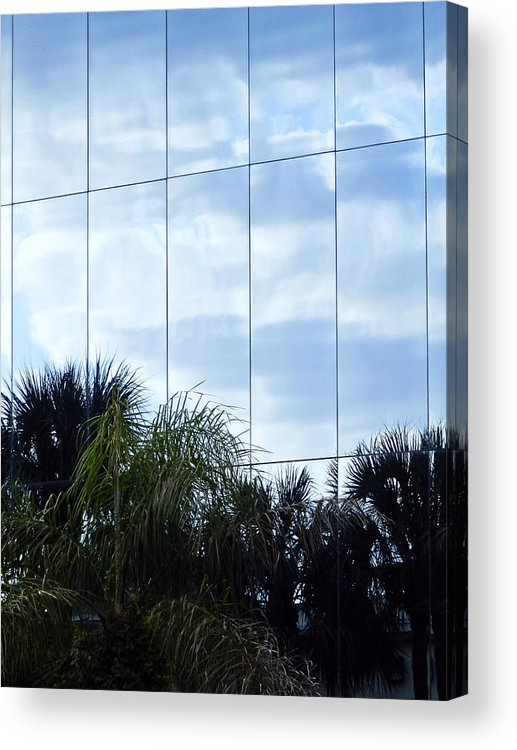 Architectur Acrylic Print featuring the photograph Mirrored Facade 1 by Stuart Brown