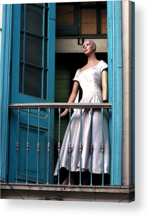 Window Acrylic Print featuring the photograph Mujer En Ventana by Adrian Rios Acevedo
