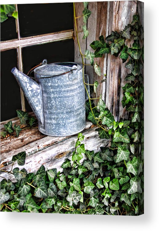 Vintage Acrylic Print featuring the photograph Old Fashioined Sprinkling Can 1 by Linda Phelps