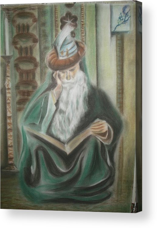 Omar Khayyam Acrylic Print featuring the pastel Omar Khayyam by Prasenjit Dhar