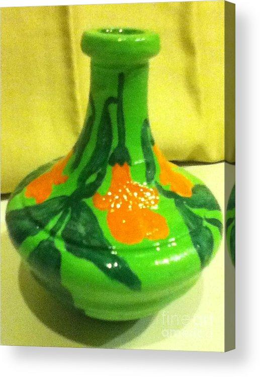 Orange Acrylic Print featuring the painting Orange Bells by Berta Barocio-Sullivan