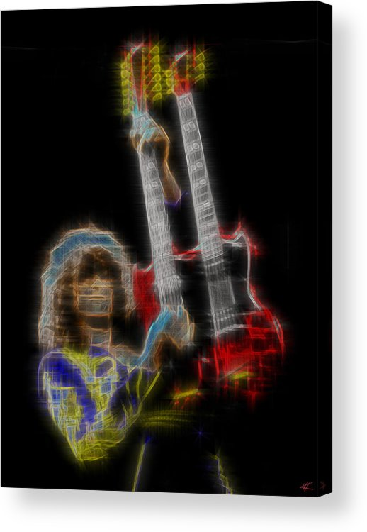 Led Zeppelin Acrylic Print featuring the digital art Zoso by Kenneth Armand Johnson