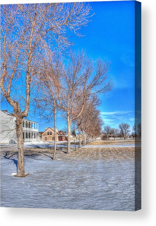 Parade Acrylic Print featuring the photograph Parade Grounds - Fort Laramie by HW Kateley