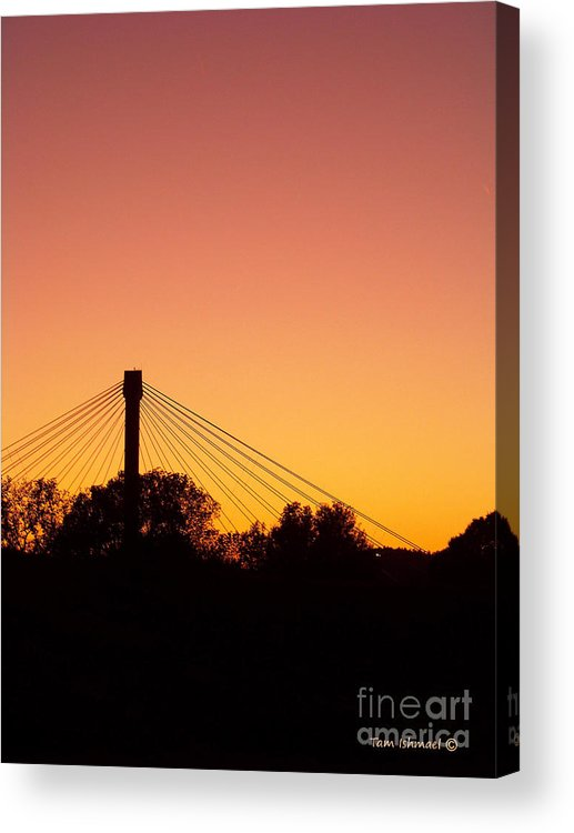Sunsets Acrylic Print featuring the photograph Peach Skies by Tammy Ishmael - Eizman