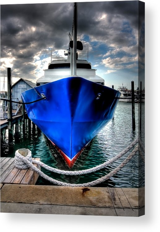 Yacht Acrylic Print featuring the photograph Proud Bow by Stephen Warren