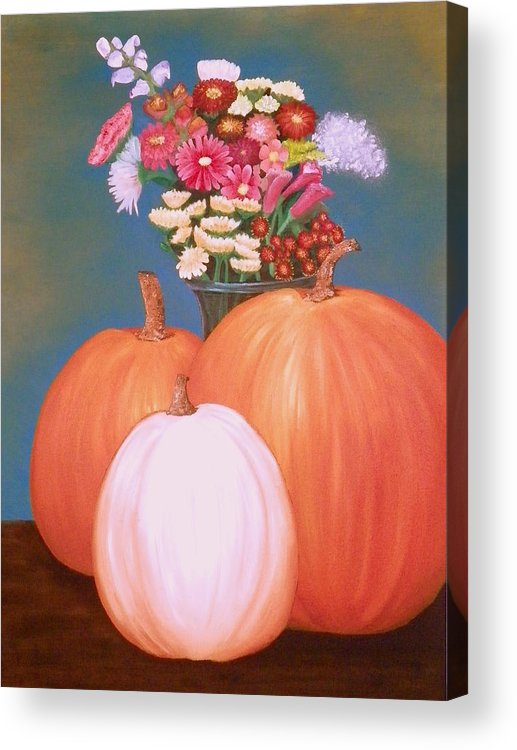 Pumpkin Acrylic Print featuring the painting Pumpkin by Amity Traylor