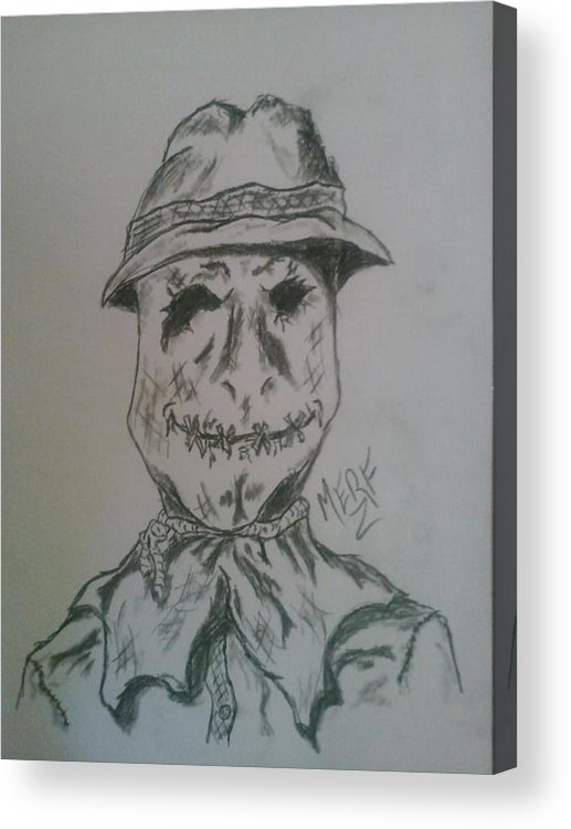 Scarecrow Acrylic Print featuring the drawing Scarecrow by Danny Merrifield