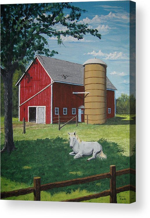 Landscape Acrylic Print featuring the painting Shady Rest by Norm Starks