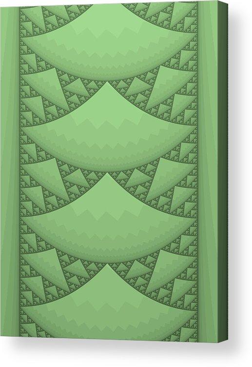 Fractal Acrylic Print featuring the digital art Sierpinski Composition by Mark Greenberg