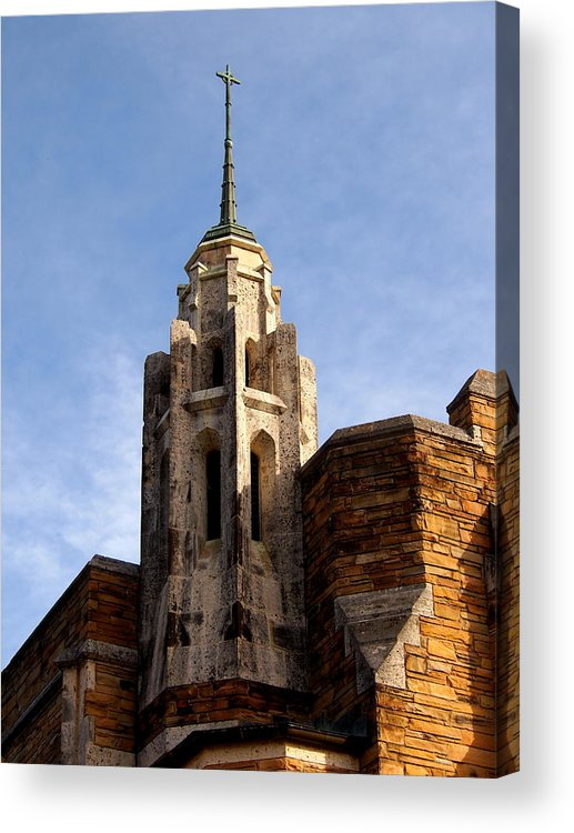 St. Stephens Acrylic Print featuring the photograph Small Steeple by Judge Howell