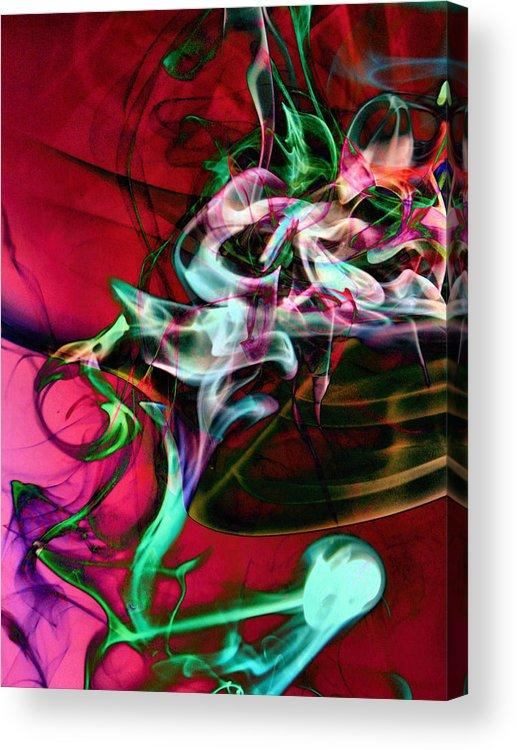 Smoke Art Acrylic Print featuring the photograph Smoke Dementia Number One Edit E by Nawfal Nur