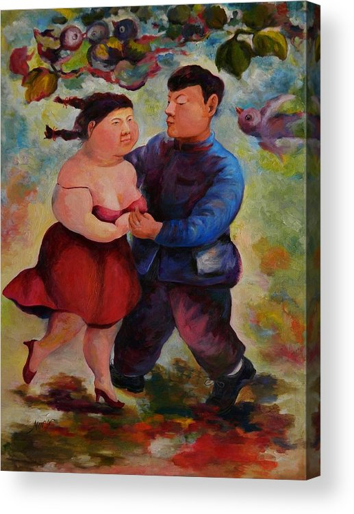 Summertime Series Acrylic Print featuring the painting Summertime 2-step by Min Wang