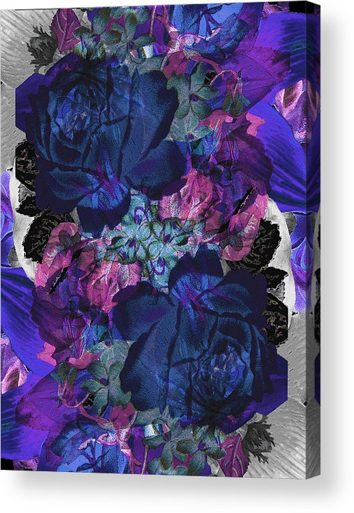 Roses Acrylic Print featuring the painting Symetry Rose Garden by Carly Ralph