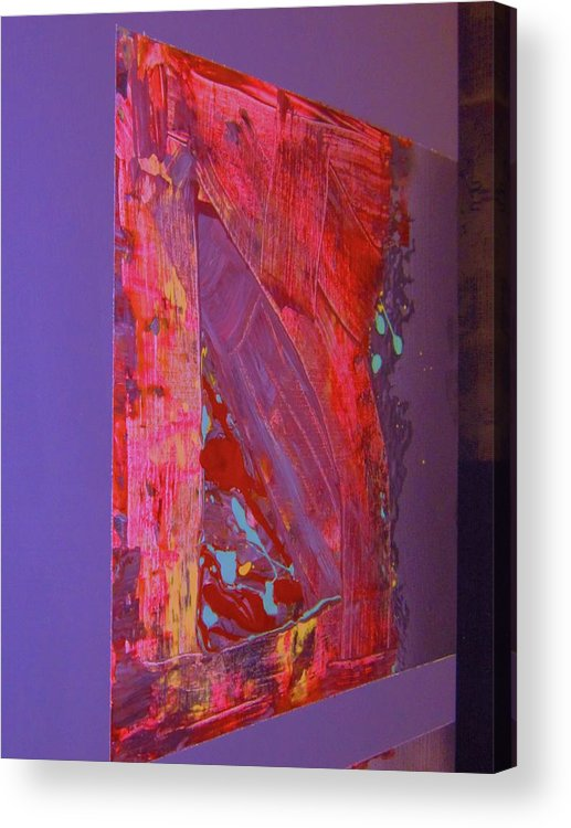 Abstract Acrylic Print featuring the painting That Was The Corner by Adolfo hector Penas alvarado