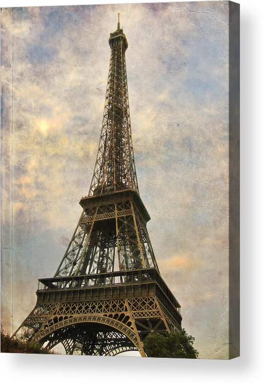 The Eiffel Tower Acrylic Print featuring the photograph The Eiffel Tower by Laurie Search
