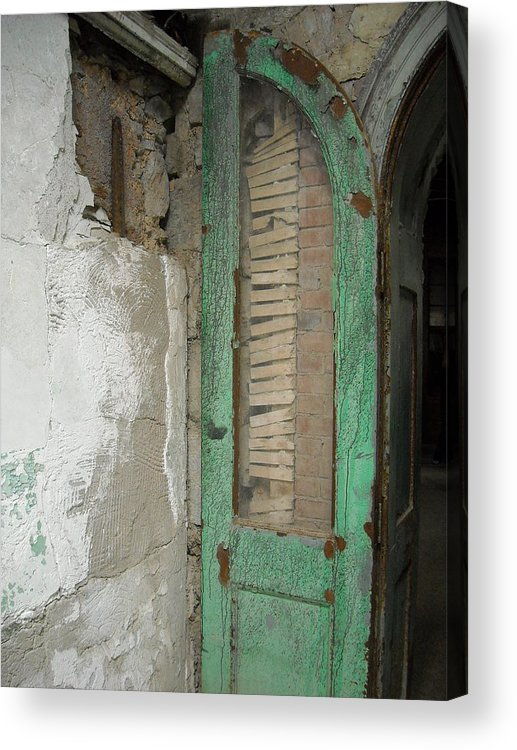 Ennis Acrylic Print featuring the photograph The Green Door by Christophe Ennis