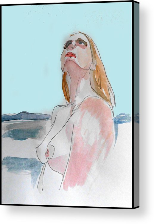 Figure Acrylic Print featuring the mixed media The Way You See It by Adam Kissel
