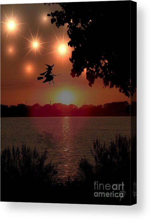 Halloween Acrylic Print featuring the photograph The Woodmere Witch by Laurence Oliver