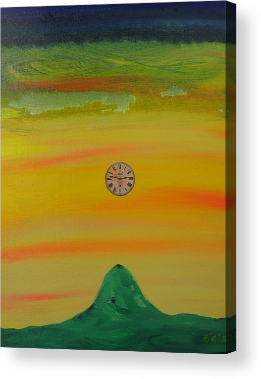 Time Moving Acrylic Print featuring the painting Time Shift by O'Clair Alexander