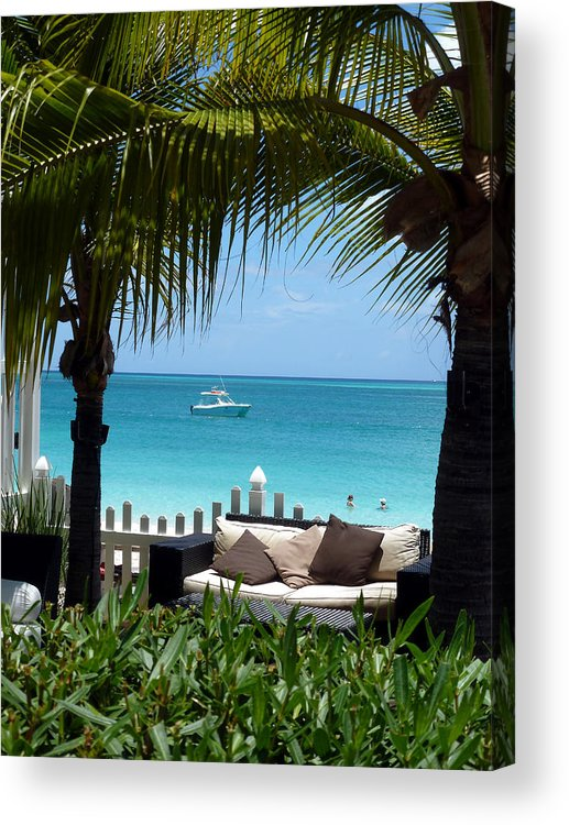 Tropical Resort Acrylic Print featuring the photograph Turks 25 by Allan Rothman