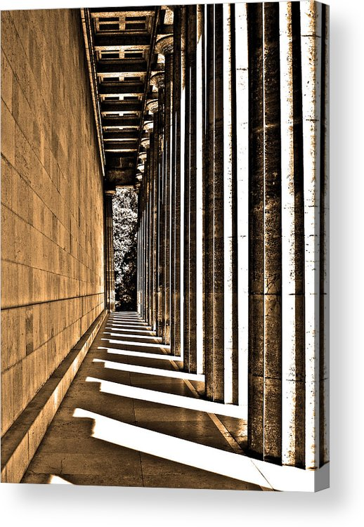 Europe Acrylic Print featuring the photograph Walhalla Colonnade ... by Juergen Weiss
