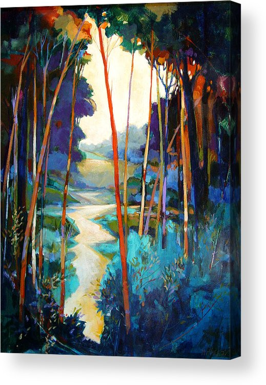 Landscape Acrylic Print featuring the painting Waterpath by Dale Witherow