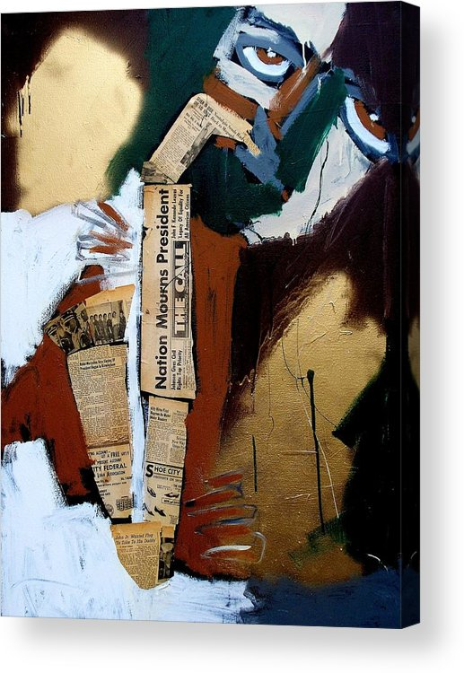 Jazz Acrylic Print featuring the painting A Blues For Camelot by Harold Smith