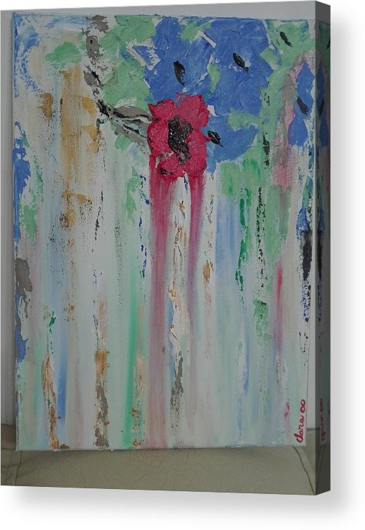 Abstract Acrylic Print featuring the painting Flori by Clara Tanasie