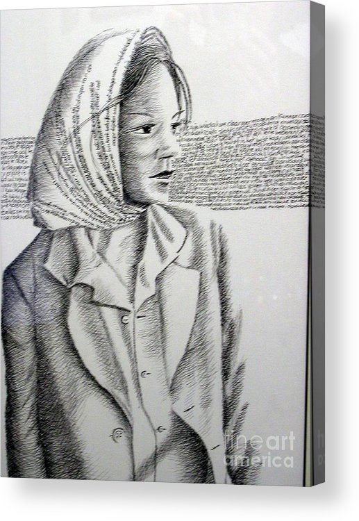 Language Acrylic Print featuring the drawing Language Of Cloth by Tanni Koens