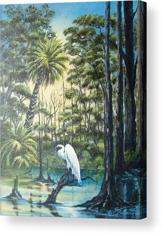 Landscape Acrylic Print featuring the painting Only The Lonely by Dennis Vebert