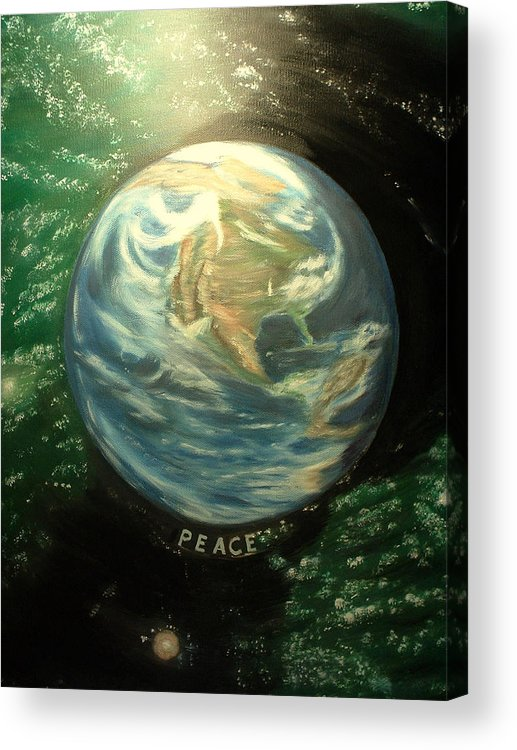 Peace Project Acrylic Print featuring the painting Peace by Kenneth LePoidevin