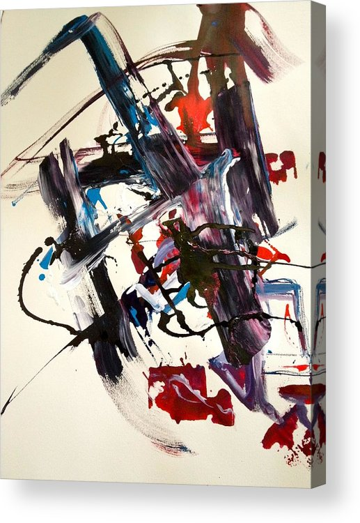 Abstract Acrylic Print featuring the painting 1 by Richard Weiner