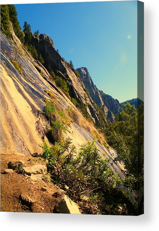 Sky Acrylic Print featuring the photograph Rockface by Luke Clarkson