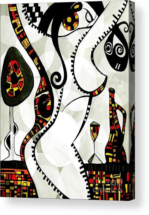Abstraction Acrylic Print featuring the digital art Women 4128 by Marek Lutek