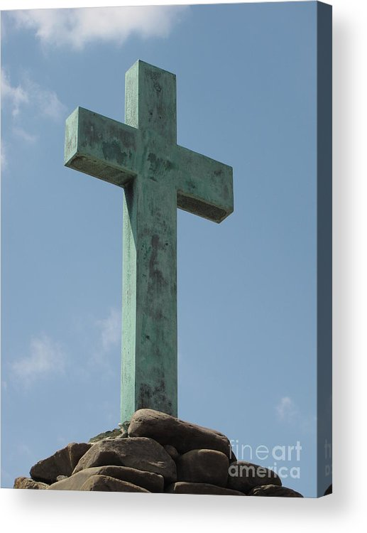 Schuminweb Acrylic Print featuring the photograph Christopher Newport Cross by Ben Schumin