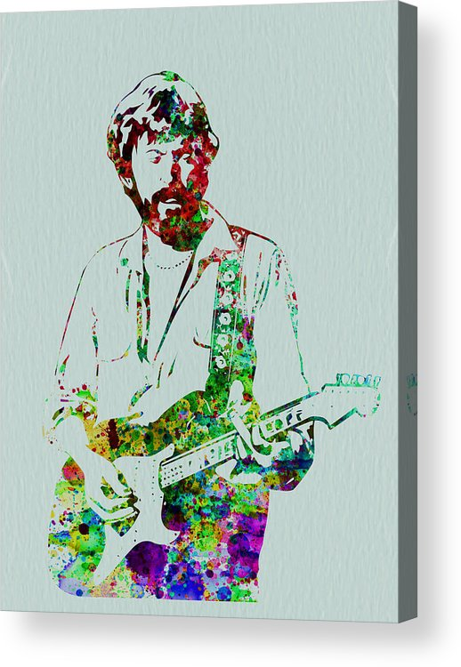 Acrylic Print featuring the painting Eric Clapton by Naxart Studio