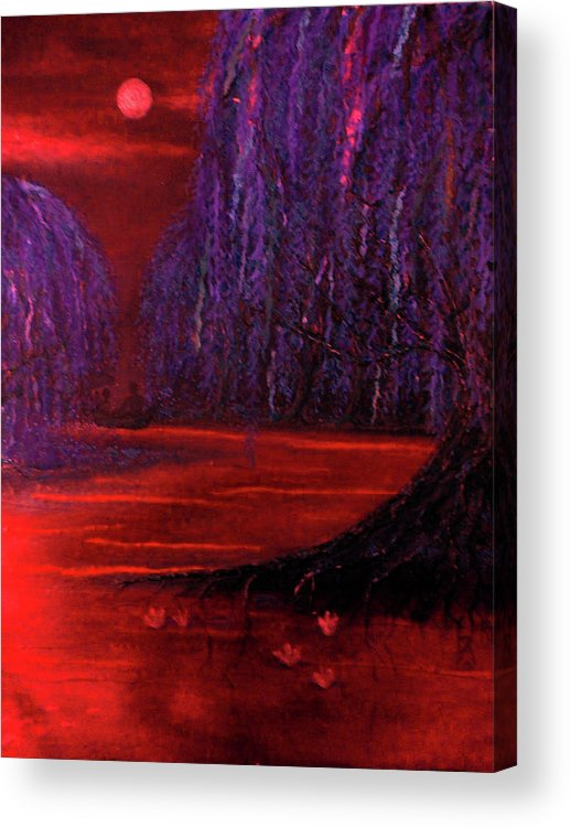 Paper Acrylic Print featuring the mixed media Lagoon by Emily Perry