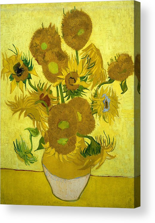 Van Gogh Acrylic Print featuring the painting Sunflowers 41 by Vincent van Gogh