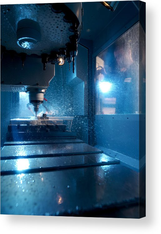 Human Acrylic Print featuring the photograph Metalwork by Tek Image