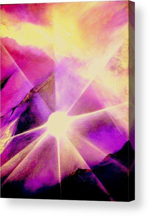 Sunrise.light Acrylic Print featuring the painting Rising Sun by Kumiko Mayer