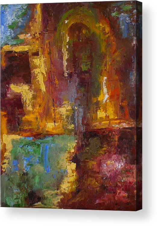 Abstract Acrylic Print featuring the painting 48 by Lou Ewers
