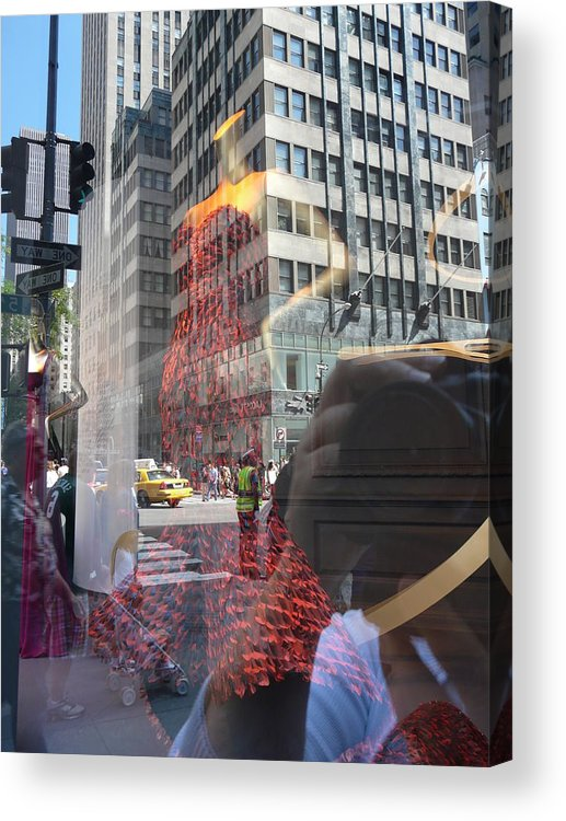 New York Acrylic Print featuring the photograph 5th Avenue by Valerie Ornstein