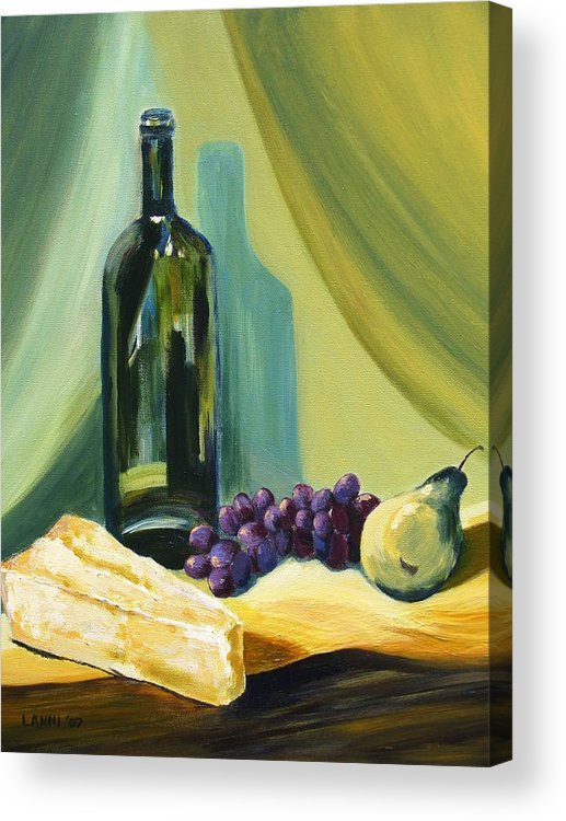 Still Life Acrylic Print featuring the painting A Few Of My Favorite Things by Joe Lanni