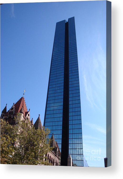Boston North Church Acrylic Print featuring the photograph A View Of The Old And The New by Robyn Leakey