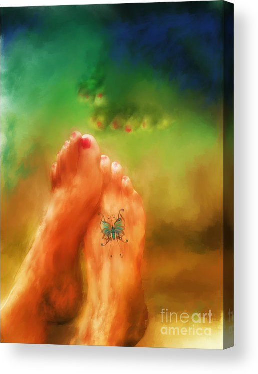Summer Acrylic Print featuring the mixed media Aah Summer by Marilyn Sholin