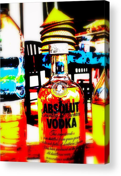 Bali Acrylic Print featuring the photograph Absolut Gasoline Refills For Bali Bikes by Funkpix Photo Hunter