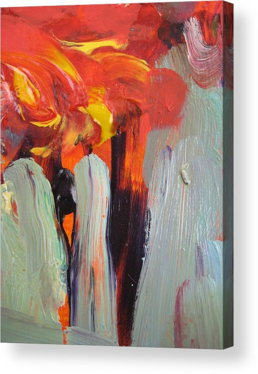 Abstract Acrylic Print featuring the painting Aceo Abstract Trees by Susan Jenkins